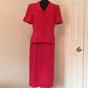 Professional Skirt Set/ Embroidery